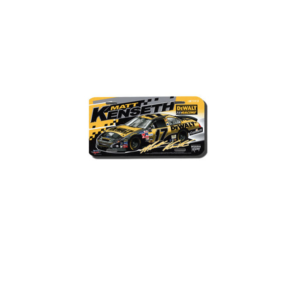 Matt Kenseth License Plate Dewalt COT