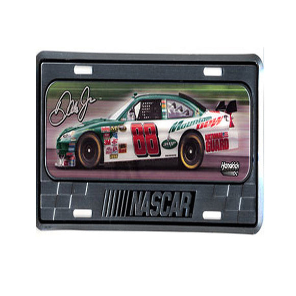 Dale Earnhardt Jr Mountain Dew Domed Metal License Plate