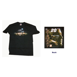 Tony Stewart Black Car Photo T-Shirt