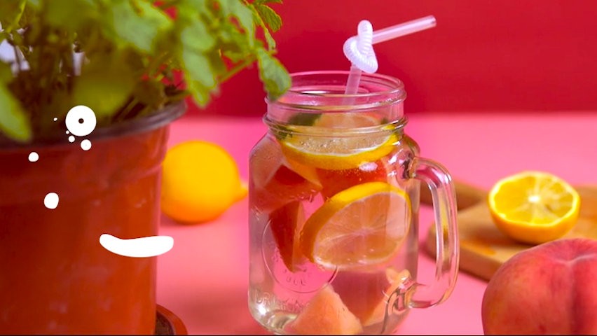 Cool summer Peach Soda | Recipes of July Drinks