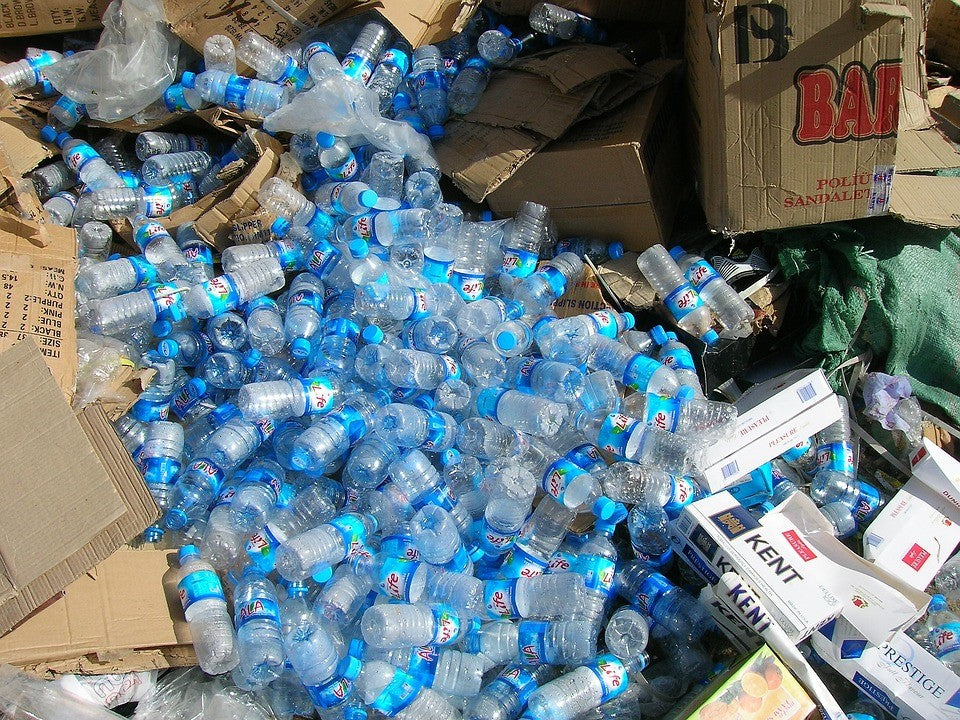 Plastic water bottle garbage