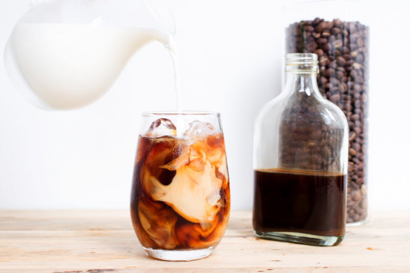 add milk into iced coffee