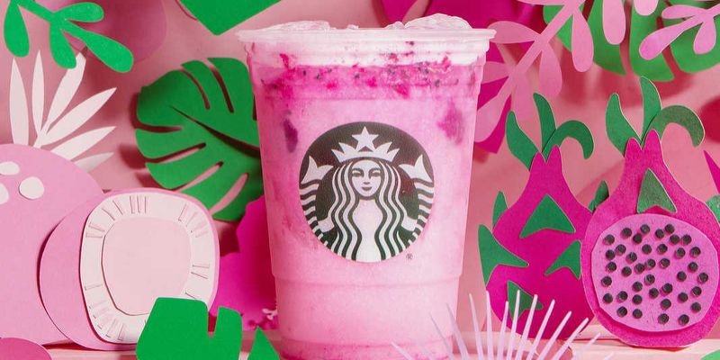 dragon fruit frappucino