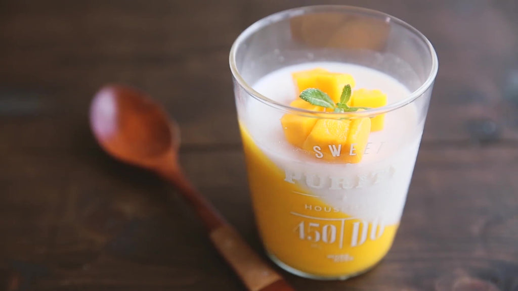 mango coconut milk pudding