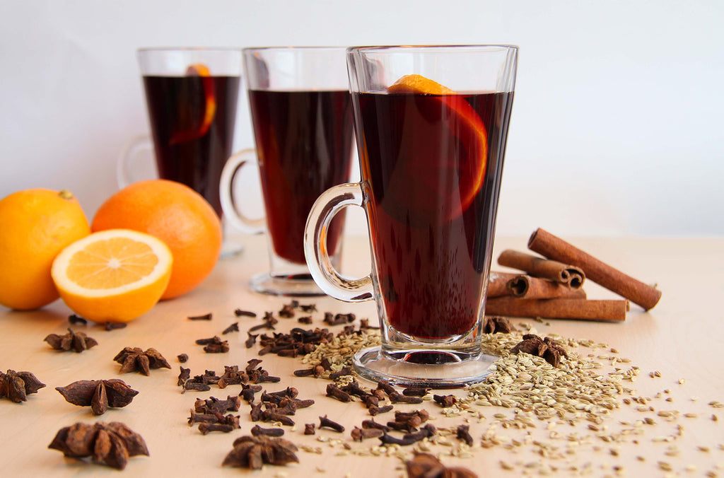 mulled wine with orange