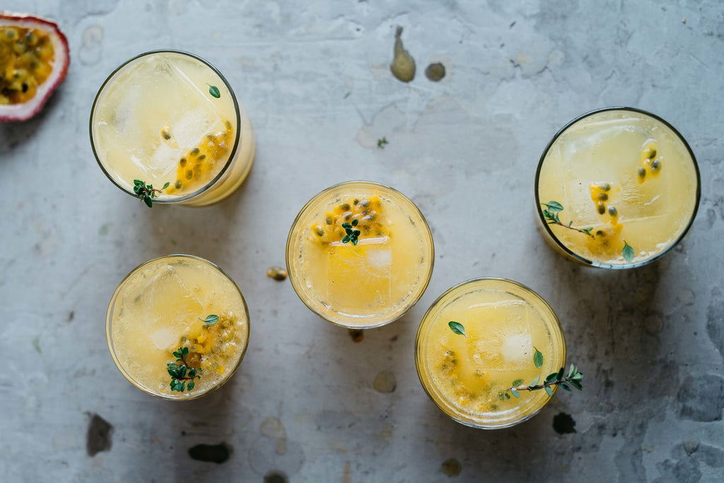 passion fruit lemon honey beverage