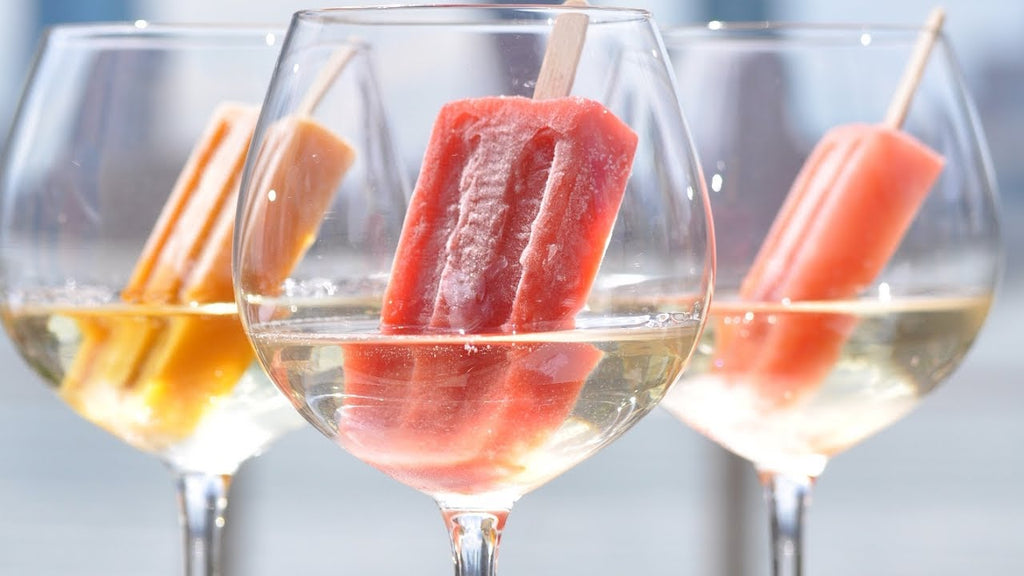 popsicle in the wine