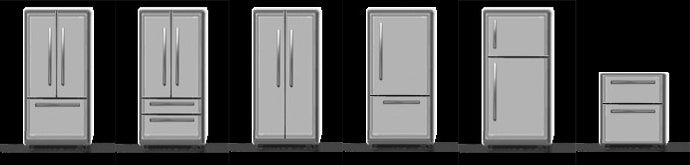 6 types of whirlpool refrigerators