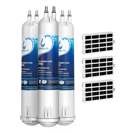 GlacialPure 3Pack Filter3,4396841, EDR3RXD1,  46-9083 with Air filter