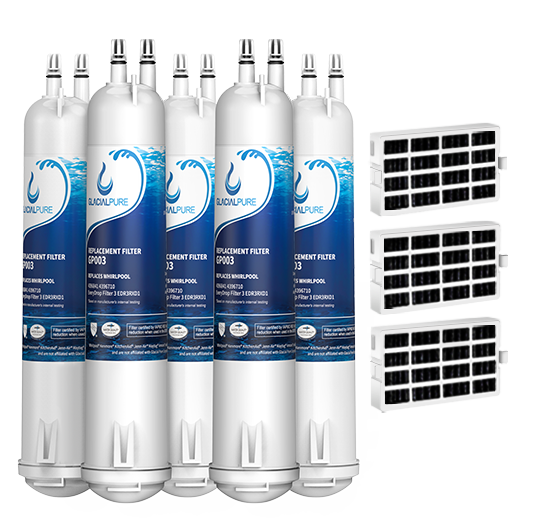 GlacialPure 5Pack Filter3,4396841, EDR3RXD1,  46-9083 with Air filter