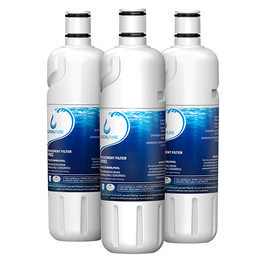 GlacialPure Filter for Whirlpool Filter2, EDR2RXD1, W10413645A (3-3Pack)