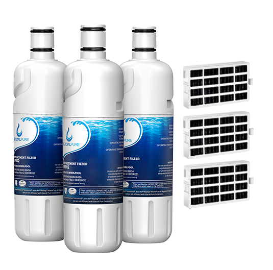 GlacialPure 3Pack Filter 2, EDR2RXD1, W10413645A with Air filter