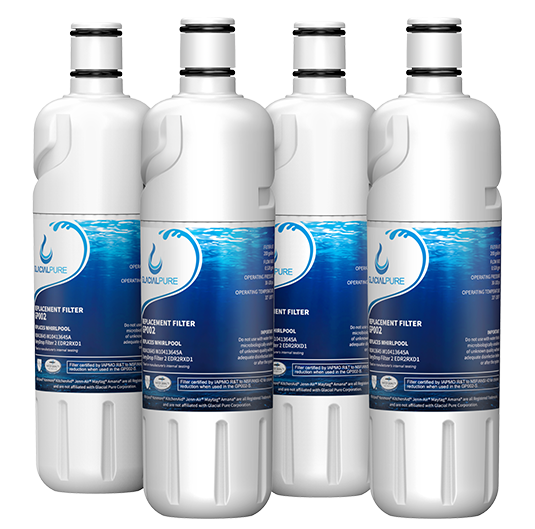 GlacialPure Filter for Whirlpool Filter2, EDR2RXD1, W10413645A (4-3Pack)