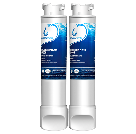 2pk Frigidaire EPTWFU01 Refrigerator Water Filter By GlacialPure
