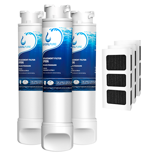 EPTWFU01 Refrigerator Water Filter Combo With PAULTRA Air Filter by GlacialPure 3Pack