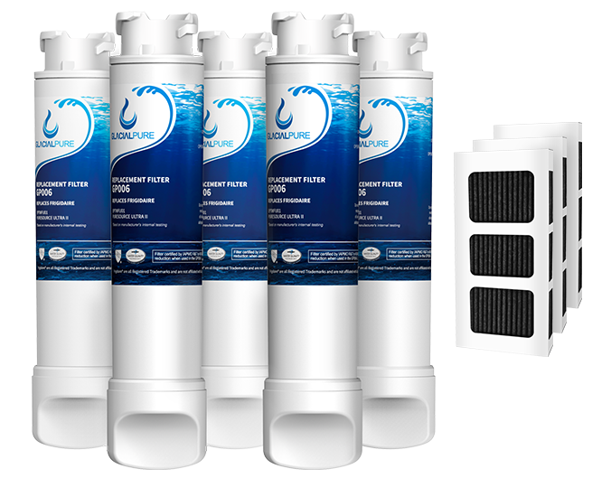 EPTWFU01 Refrigerator Water Filter Combo With PAULTRA Air Filter by GlacialPure 5Pack