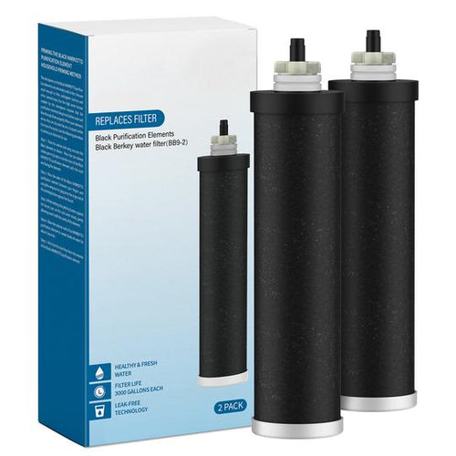 GlacialPure Replacement Water Filter for BB9-2 Black Berkey System, 2Packs