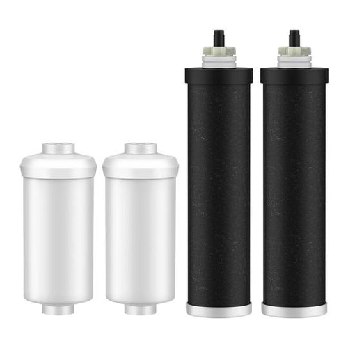 GlacialPure BB9-2 & PF-2 Replacement for Black Berkey Filters (BB9-2) & Berkey Fluoride Filters (PF-2) Combo Pack