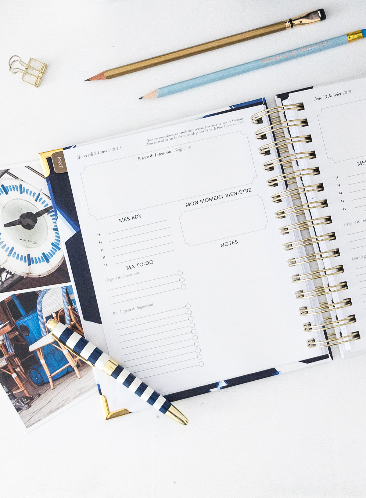KIT Entrepreneur -  ICONIC STRIPES - Planner Jour 2020 - Embrace Planner