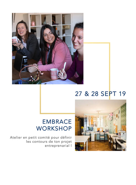 Embrace Workshop [27&28 Septembre 2019] - Embrace Planner