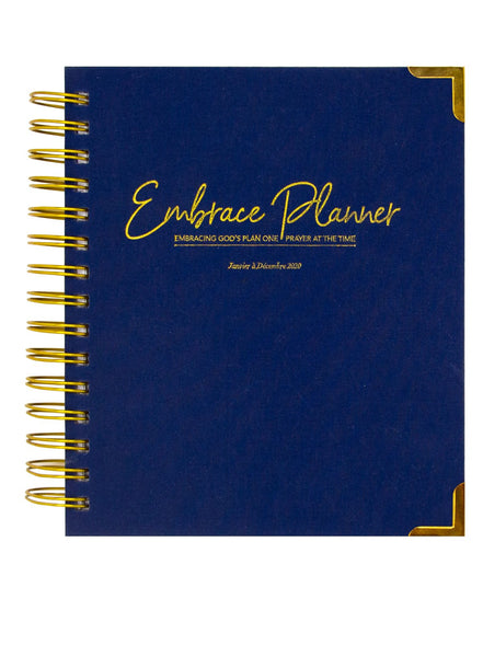 Embrace Planner 2020 - Kit Planner Agenda Chrétien Planification Organisation - NAVY BLUE WOVEN