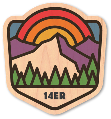 14er Wood Sticker