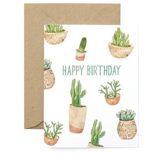 Birthday Succulents Card