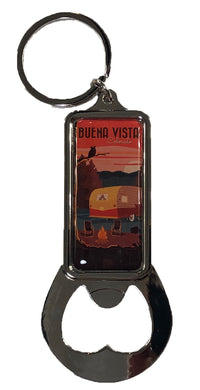 Retro Camper Bottle Opener Key Chain