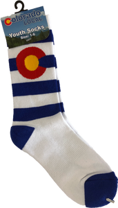 Colorado Local Youth Striped Socks