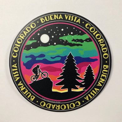 Colored Clouds Bike Sticker
