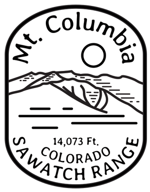 Columbia BW Sticker
