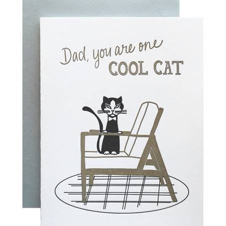 Cool Cat Dad Card