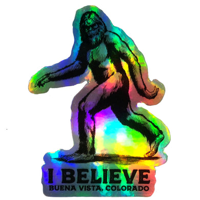 I Believe Hologram Sticker