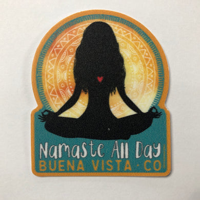 Namaste All Day MINI Sticker