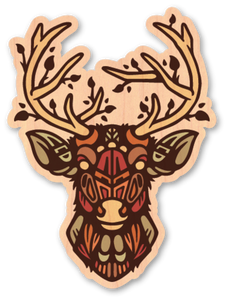 Nowhere Deer Sticker