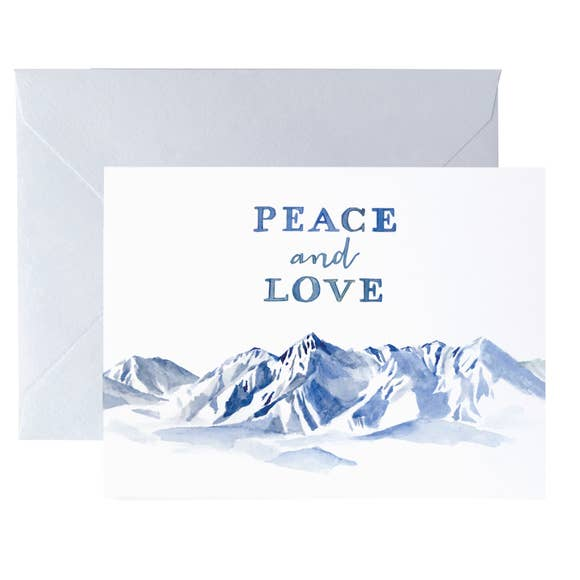 Peace and Love Mountains Card