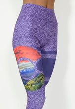 Load image into Gallery viewer, San Juan Snow Cap Yoga Pants - Purple