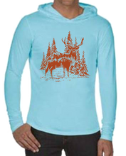 Load image into Gallery viewer, Deer T-shirt Hoodie
