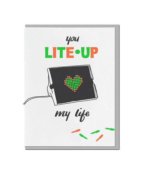You Lite Me Up Card
