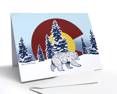 Colorado Bear Greeting Card