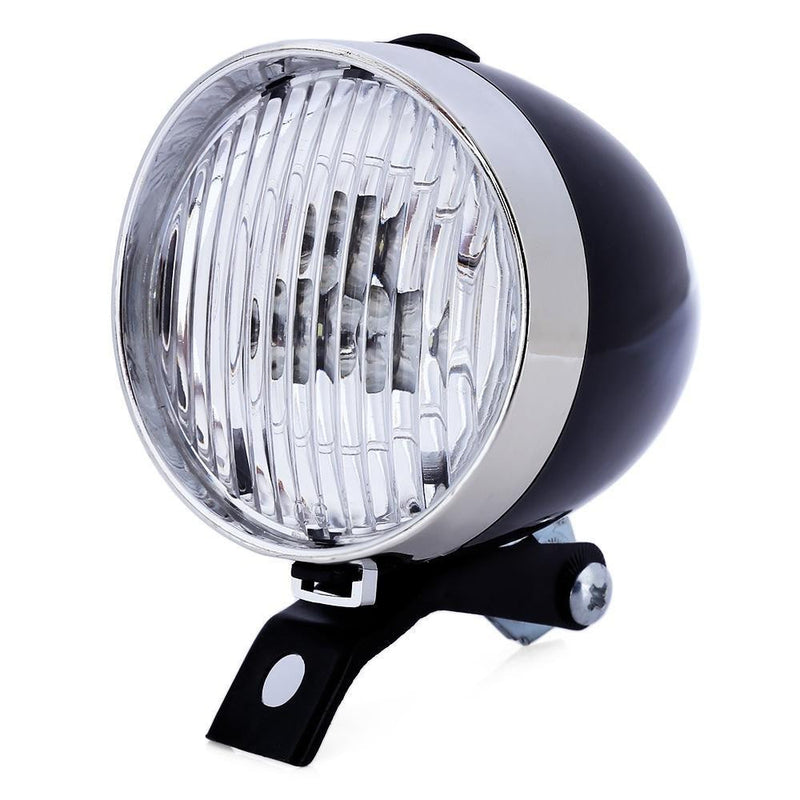 Retro Bicycle 3 LEDs Front Light Headlight Vintage Flashlight Lamp