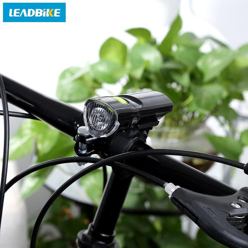 LEADBIKE Outdoor Bicycle MTB Water Resistant LED Front Warning Safety Light Headlight Flashlight