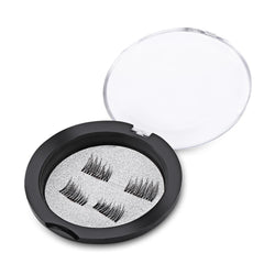 2 Pairs Beauty Magnet Handmade Thick Cross False Eyelashes