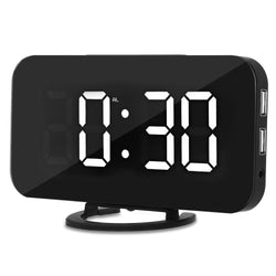 LED Digital Alarm Table Clock Brightness Adjustable for Home Office & Hotel