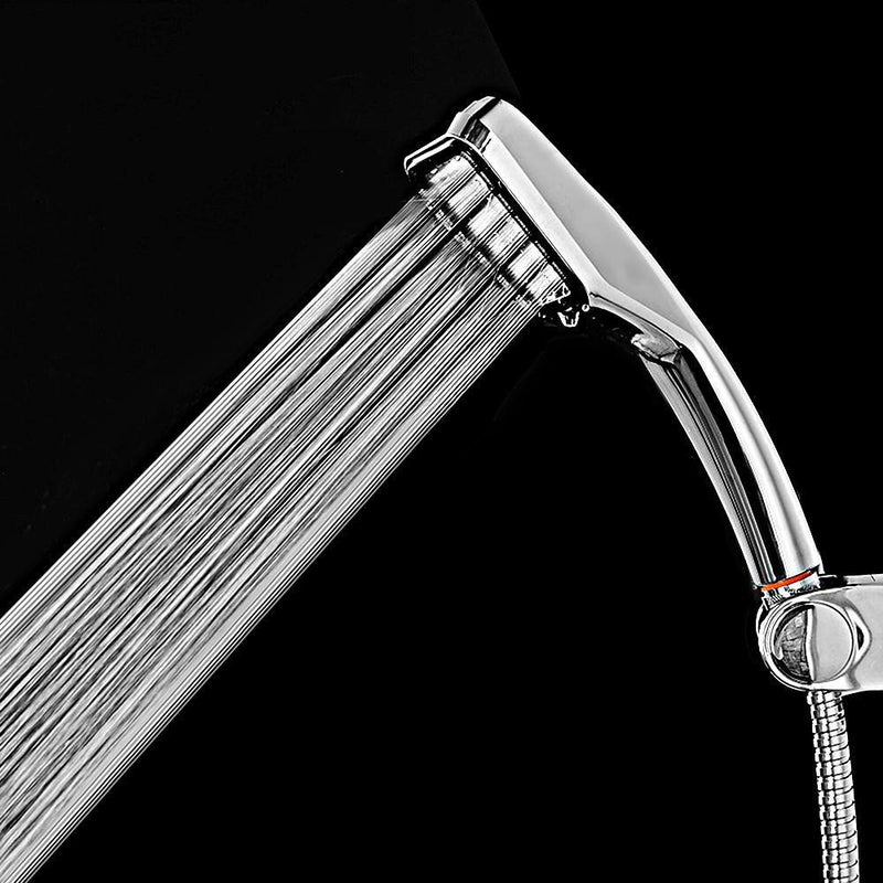 Shower Head 300 Holes Handheld Water Saving Bathroom High-pressure Boost Rainfall With Chrome ABS