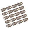 20Pcs Hair Extension Snap Clips Wig Grips Medium Remy Clip In 32mm (Brown)