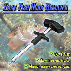 Easy Fish Hook Remover New Fishing Tool Tackle T-type hook remover