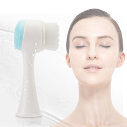 Double side Silicone Facial Cleanser Portable 3D Face Cleansing Brush Skin Care Tool