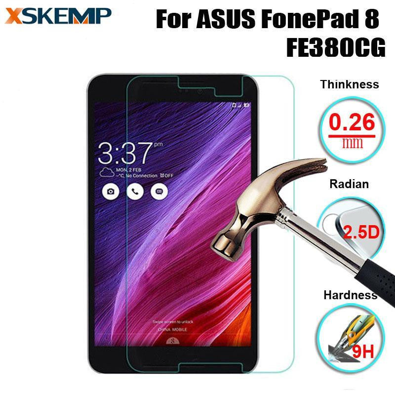 ASUS FonePad 8 FE380CG Tablet PC Tempered Glass 9H Hard Screen Protector Film