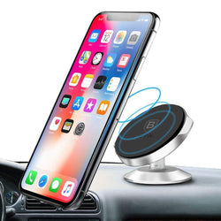 Baseus Mini Strong Suction 360 Degree Rotation Magnetic Car Mount Holder for Mobile Phones